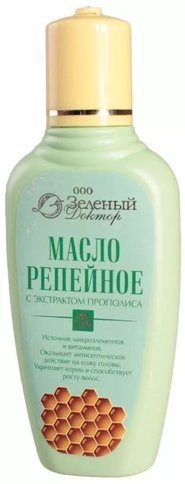Зеленый доктор масло репейное с экстрактом прополиса
