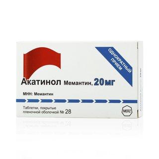 Акатинол мемантин - фото упаковки