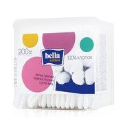 Белла палочки ватные пластиковая квадратная упаковка
