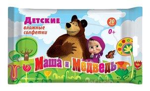 Салфетки влажные детские маша и медведь