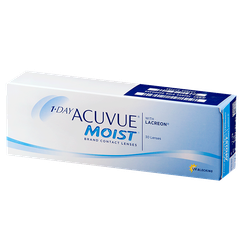 Линза контактная Acuvue 1-DAY Moist BC=8,5 -1,75
