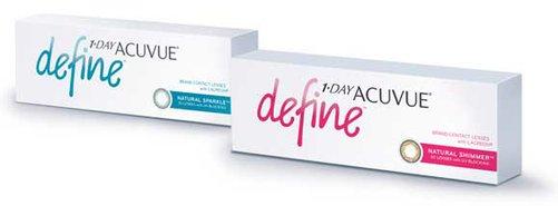 Линза контактная Acuvue 1-DAY Define BC=8,5 -1,50 Sparkle