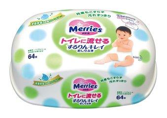 Мерриес салфетки влажные детские флушабл контейнер