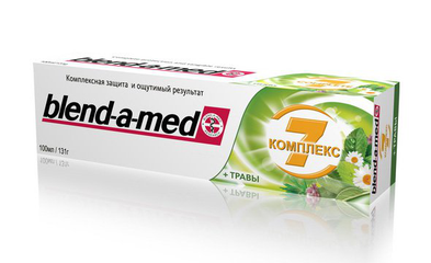 "Blend-a-med зубная паста ""комплекс 7"" + травы"