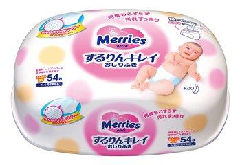 Мерриес салфетки влажные детские розовые контейнер