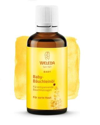 Weleda масло для массажа животика младенца
