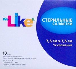 Лайк салфетки стерильные 7,5х7,5 марлевые