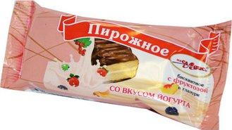 Пирожное бисквитное на фруктозе  в шоколадной глазури