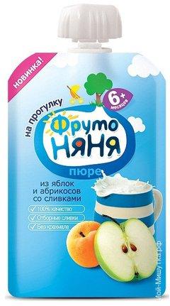 ФрутоНяня Пюре яблоко-абрикос-сливки