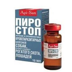 АПИ-САН Пиро-Стоп лечение кровепаразитарных заболеваний у собак и СХЖ (инъекционный)
