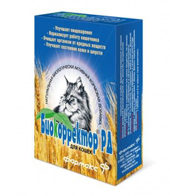 Биодобавка для кошек НПП ФАРМАКС БИОКОРРЕКТОР РД для улучшения работы ЖКТ 60таб