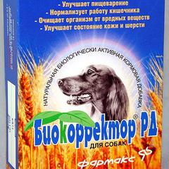 Биодобавка для собак НПП ФАРМАКС БИОКОРРЕКТОР РД для улучшения работы ЖКТ 90таб