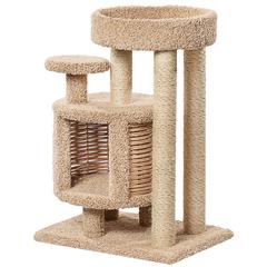 Домик для кошек ПУШОК Эдуська ковролиновый 52х72х100см