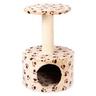 Дом-когтеточка для кошек FOXIE Лапы 40х40х60см