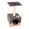 Дом-когтеточка для кошек FOXIE Леопард 40х40х60см