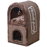 Дом-когтеточка для кошек FOXIE Нью-Йорк 40х40х70см коричневый