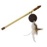 Игрушка для кошек CHOMPER Natural Дразнилка мяч с пером