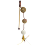 Игрушка для кошек CHOMPER Natural Дразнилка Три мяча с пером