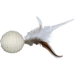 Игрушка для кошек CHOMPER Natural Мяч с пером