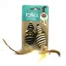 Игрушка для кошек CHOMPER Natural Набор Мышки мини с пером