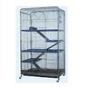 Клетка для грызунов KREDO для шиншилл 79х52х139,5см 4-х этажная с выдвижным поддоном, на колесах