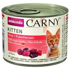 Корм для котят ANIMONDA Carny Kitten говядина, сердце индейки конс.