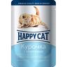 Корм для котят HAPPY CAT Курочка, морковь кусочки в соусе пауч