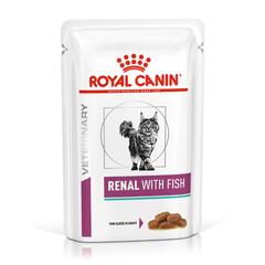 Корм для кошек ROYAL CANIN Vet Diet Renal при почечной недостаточности рыба пауч