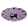Миска для животных FOXIE Cat Plate фиолетовая керамическая 15,5х3см