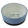 Миска для животных FOXIE Meow серо-голубая керамическая 14х5,5см