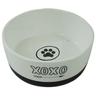 Миска для животных FOXIE Paw белая керамическая 14х5,5см