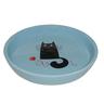 Миска для животных FOXIE Кошка с клубком голубая керамическая 15х2,5см