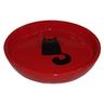 Миска для животных FOXIE Кошка с клубком красная керамическая 15х2,5см
