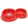 Миска для животных ХОРОШКА двойная пластиковая красная 200\350мл