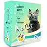 Наполнитель для кошачьего туалета PRO CAT Vanilla комкующийся из экстра белой глины