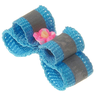 Бантик V.I.PET (пара) Ностальжи светоотражающий двойной объёмный (голубой) 3х1см