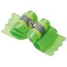 Бантик V.I.PET (пара) Ностальжи светоотражающий тройной объёмный (салатовый) 4,5х1,5см