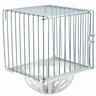 Гнездо для птиц IMAC Nido Ferro закрытое, подвесное, оцинк./белый, 12х11х15см