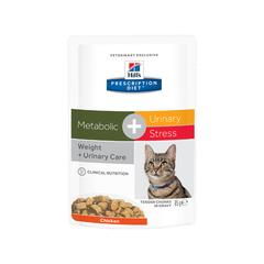 Влажный корм для кошек Hill's Prescription Diet Metabolic + Urinary Stress Feline с курицей