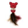 Игрушка для кошек CHOMPER Wild At Heart Медвежонок с мячиком и перьями