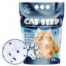 Наполнитель для кошачьего туалета CAT STEP Crystal Blue впитывающий силикагелевый,