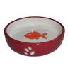 Миска для животных FOXIE Orange Fish красная керамическая 12х12х3см