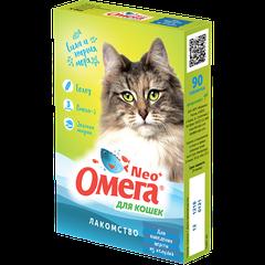 Витаминное лакомство для кошек Омега Neo+ Для выведения шерсти из желудка