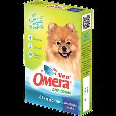 Витаминное лакомство для собак Омега Neo+ «Блестящая шерсть» с биотином
