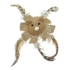 Игрушка для кошек CHOMPER Natural Лев с перьями и кошачьей мятой