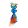 Игрушка для кошек CHOMPER Super Space Дразнилка Кошка с мячиком и перьями