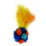 Игрушка для кошек CHOMPER Super Space Дразнилка Мяч из помпонов с перьями