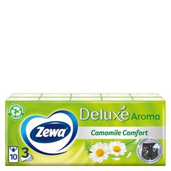Платочки бумажные носовые Zewa Deluxe Ромашка