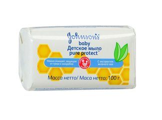 Джонсонс беби пьюр протект мыло детское антибактер.