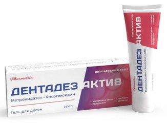 ДЕНТАДЕЗ АКТИВ гель для десен с антибактериальным эффектом - фото упаковки